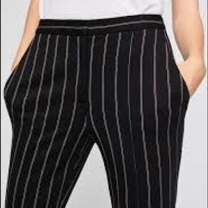 BCBGeneration black pants with maroon pinstripes 0